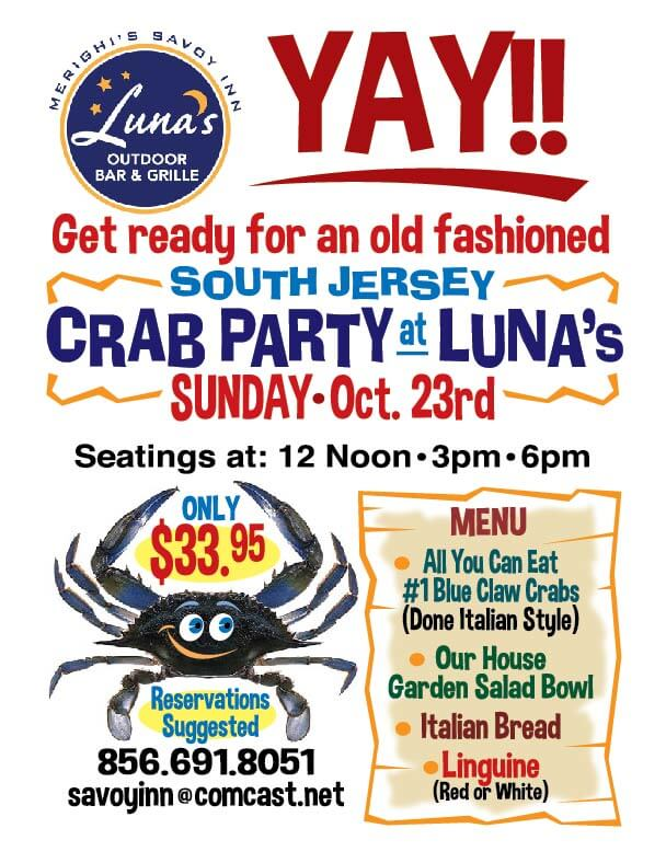 crab party oct 16